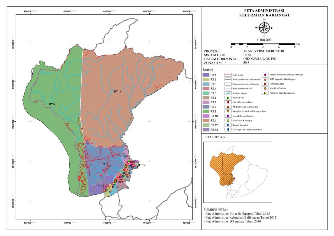 | Peta Administrasi Kelurahan Kariangau